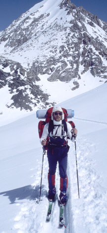 Image of author on Deadman Traverse on Sierra High Route